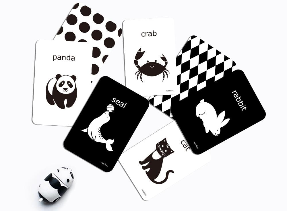 Cognitive Flash Cards - Black & White