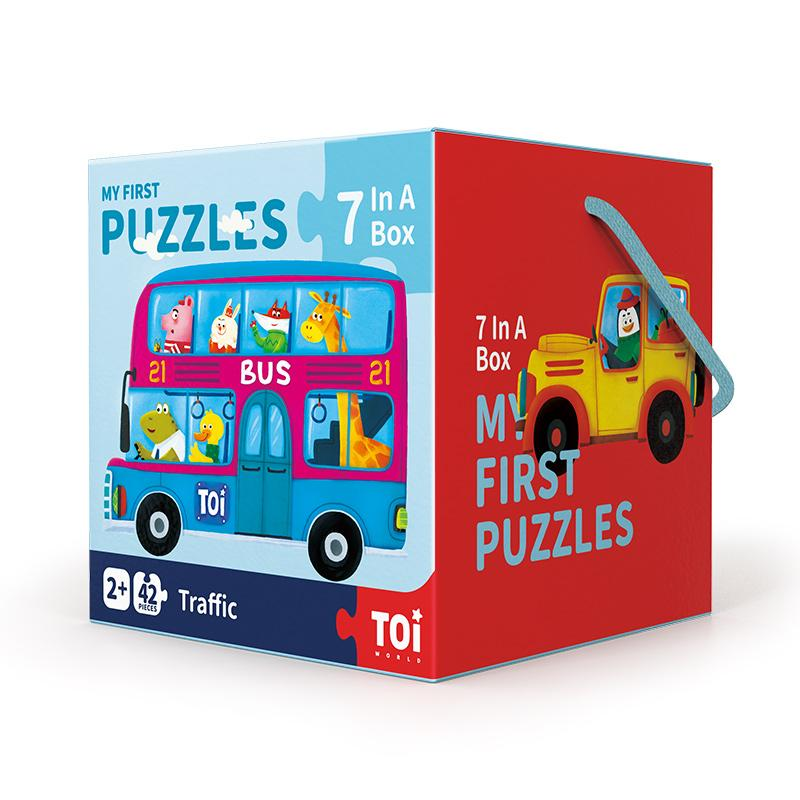 wholesale kids educational puzzles traffic