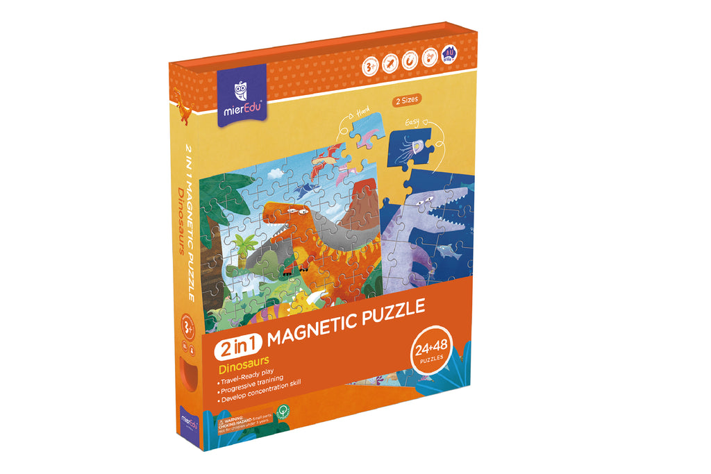 2 In 1 Magnetic Puzzle - Dinosaur
