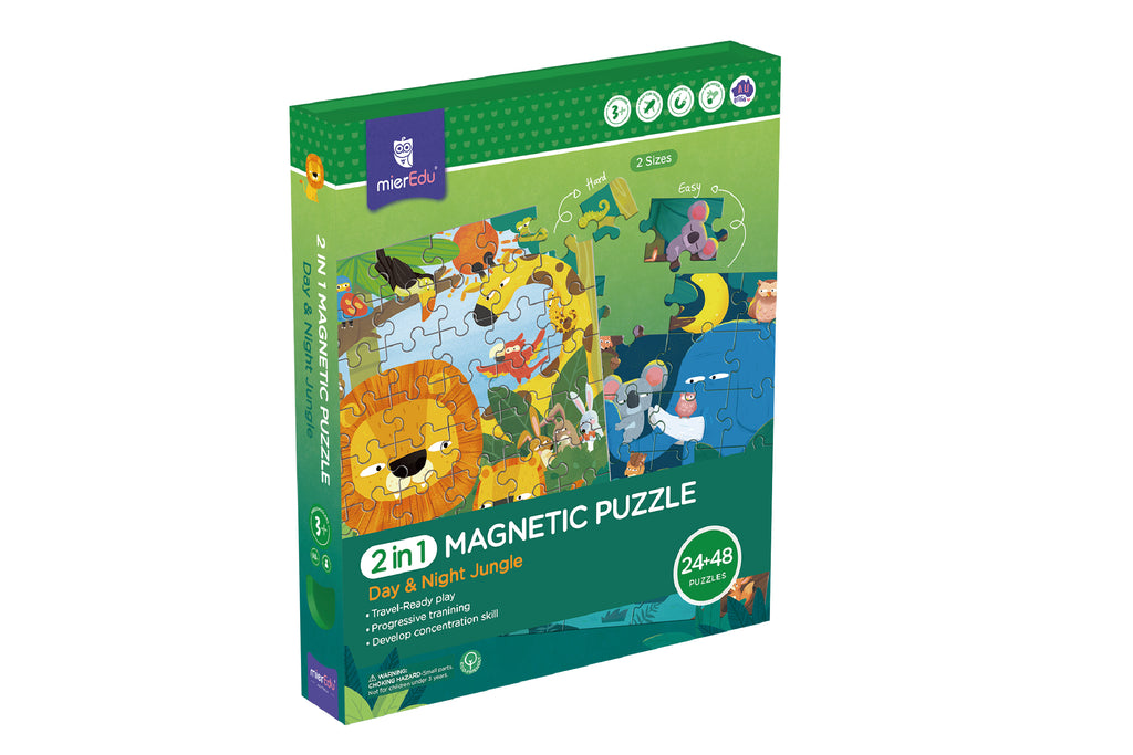 2 In 1 Magnetic Puzzle - Forest