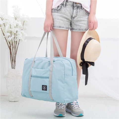 Image of Outdoor Travelling Gym bags Portable Female Folding Storage Sports Fitness Bag Large Capacity Women Fitness Bag Male Tie Case
