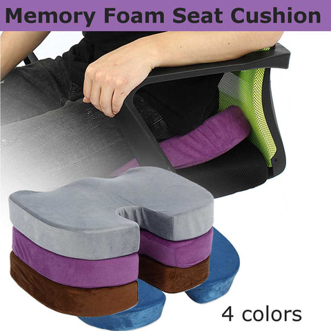 Image of Seat Cushion Memory Foam Chair Anti Hemorrhoid Coccyx Orthopedic Office Home Car Travel Seat Mat Lumbar Pain Relief Massage