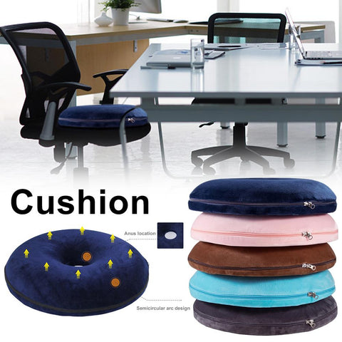 Image of Anti Hemorrhoid Massage Chair Seat Cushion Hip Push Up Yoga Orthopedic Comfort Foam Tailbone Pillow Car Office Seat Cushion 40P