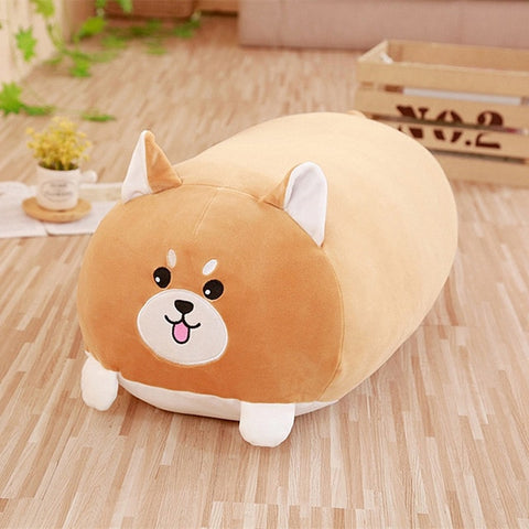 2019 New Soft Animal Cartoon Pillow Cushion Cute Fat Dog Cat Totoro Penguin Pig Frog Plush Toy Stuffed Shiba kids Birthyday Gift