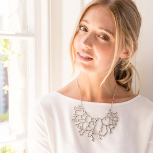 Accessories - Silver Coral Necklace