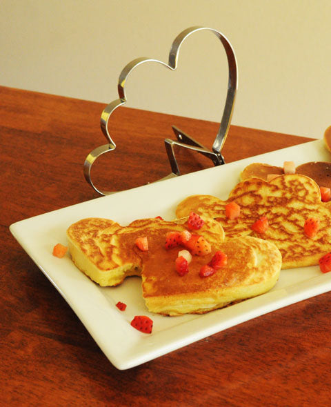 Heart Shaped Pancakes Recipe