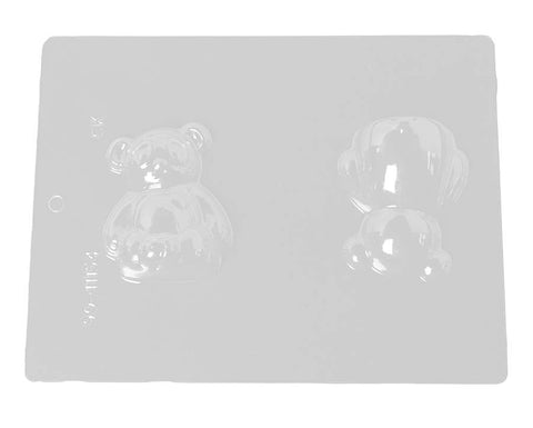 3D Panda with Heart Chocolate Mold