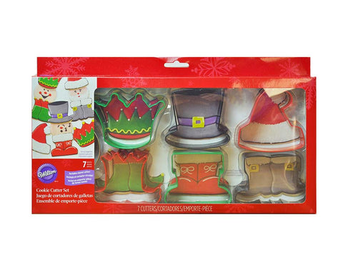 7 Piece Cookie Cutter Set For Christmas, Assorted Characters- By Wilton