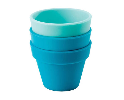 Blue & Turquoise Petit Pot, Set of 3