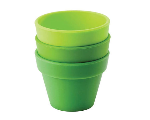 Green & Lime Petit Pot, Set of 3