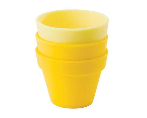 Yellow & Honey Petit Pot, Set of 3