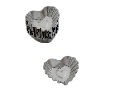 Mini Heart Shaped Petit Fours Tartlet Baking Pans, Set of 12