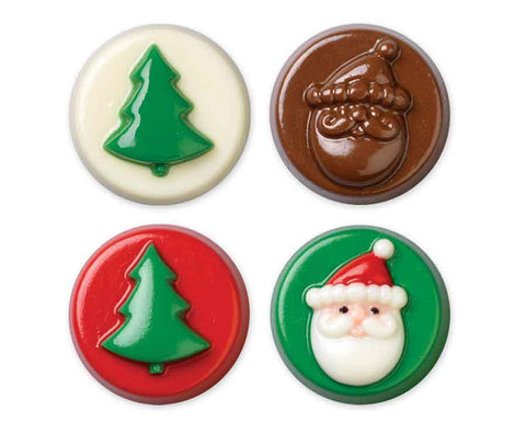 Christmas Themed Tree & Santa Claus Cookie Candy Cookie Mold