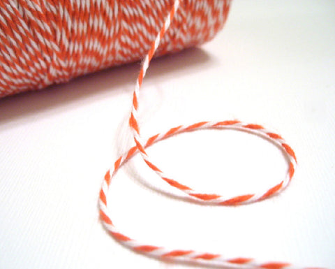 Mandarin - Orange & White Eco-Luxe Baker's Twine