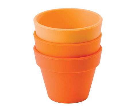 Orange Petit Pot, Set of 3