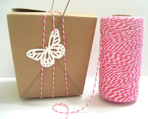 Pink Sorbet - Pink & White Baker's Twine