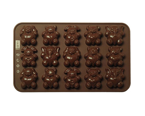 Animal Pals Hugging Hearts Chocolate Mold