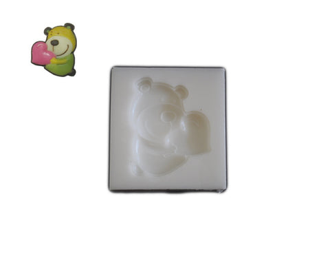 Silicone Rubber Chocolate & Candy Mold- Bear Hug with Heart