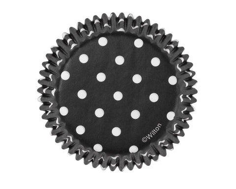 Black Polka Dot Cupcake Liners, Pack of 75 by Wilton