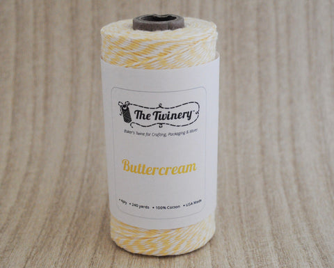 Buttercream - Light Yellow & White Eco-Luxe Baker's Twine