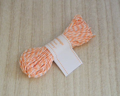 Cantaloupe- Light Orange & White Eco-Luxe Baker's Twine Sampler