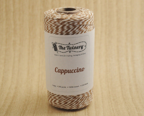 Cappuccino- Brown & White Eco-Luxe Baker's Twine