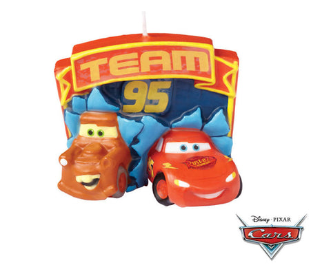 Disney Cars Candle- Lightning McQueen with Tow Mater