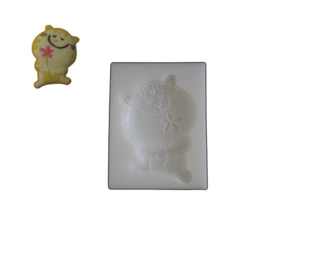 Silicone Rubber Chocolate & Candy Mold- Kitty & Daisy