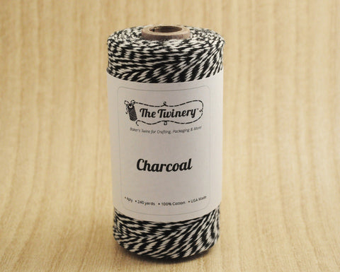 Charcoal- Black & White Eco-Luxe Baker's Twine