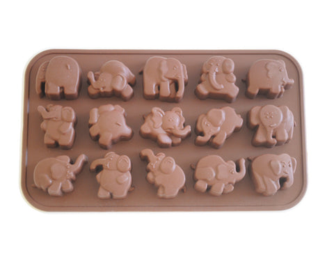 Dancing Elephant Cake & Chocolate Mold- Silicone