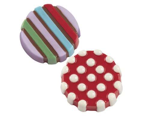 Dot & Stripe Cookie Candy Mold by Wilton