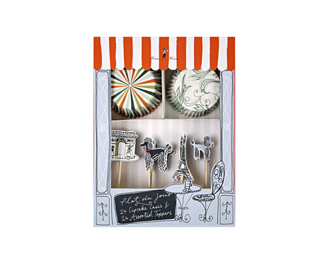 French Themed Parisian Cupcake Kit by Meri Meri