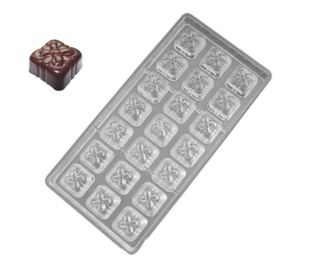 Professional Polycarbonate Chocolate & Candy Mold- Bow Tie Gift Box