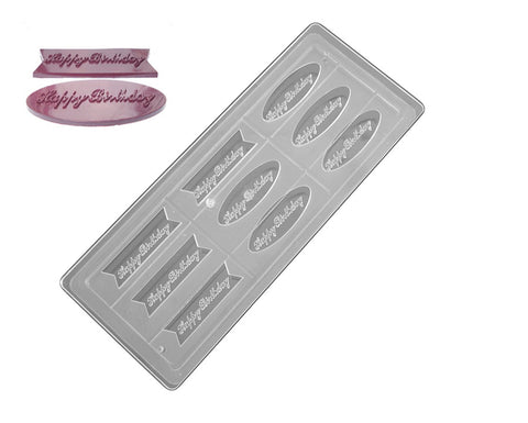 Professional Polycarbonate Chocolate & Candy Mold- Happy Birthday