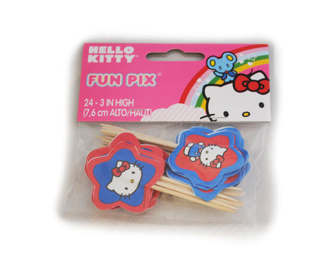Hello Kitty Themed Cupcake Picks by Wilton