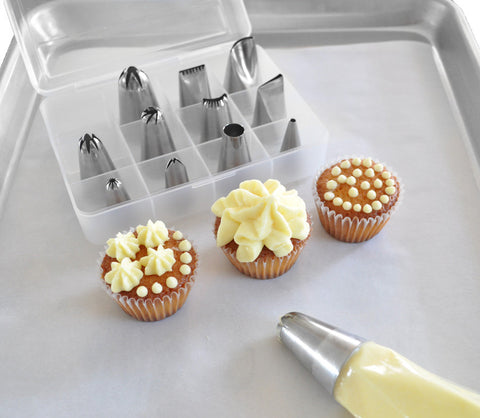 Cake Decorating Pastry Tips Set, 12 Pieces