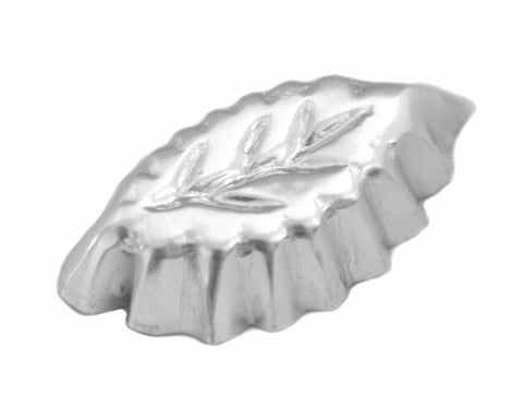 Leaf Shaped Petit Fours Aluminum Molds, Set of 12