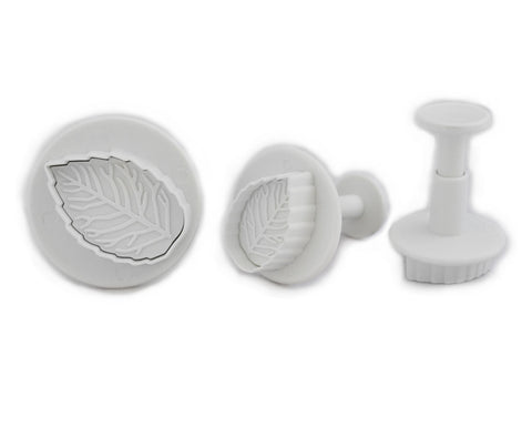 Veined Rose Leaf Plunger Sugar Paste Cutter