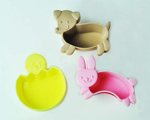 Kawaii Animal Spring Bento Cups– Set of 6