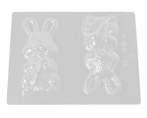 Large Easter Bunny Rabbit Chocolate Mold, 6 Inches
