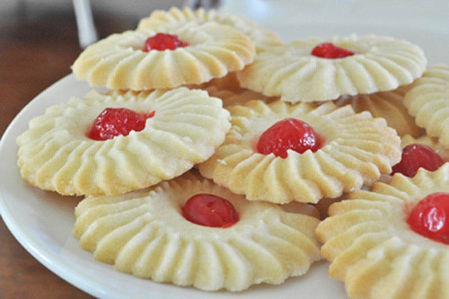 Flower Shaped Butter Cookies Special Piping Tip