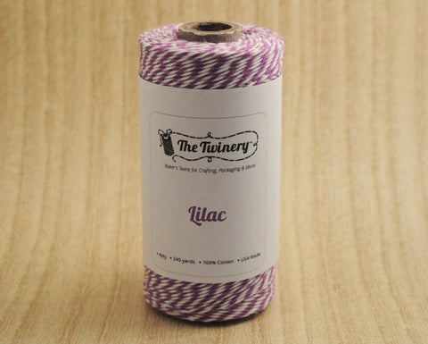 Lilac- Purple & White Eco-Luxe Baker's Twine