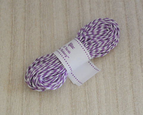 Lilac- Purple & White Eco-Luxe Baker's Twine Sampler