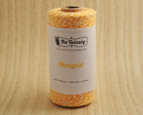 Marigold- Golden Yellow, Orange & White Eco-Luxe Baker's Twine