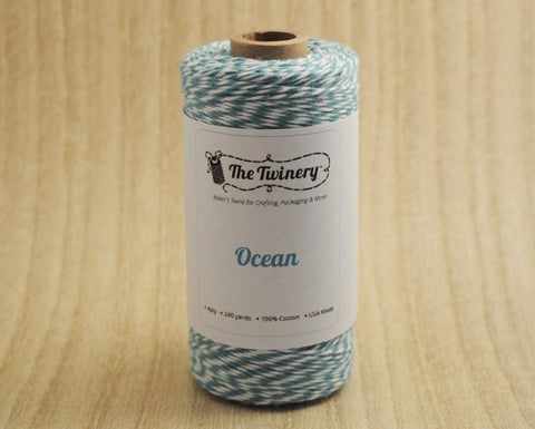 Ocean- Deep Teal & White Eco-Luxe Baker's Twine