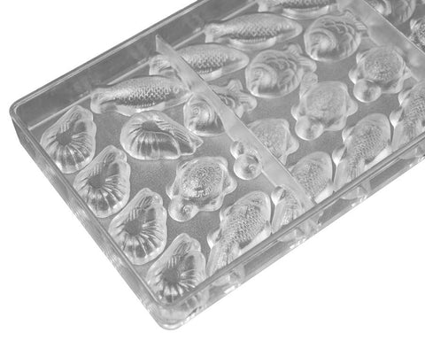 Polycarbonate Chocolate & Candy Mold- Ocean Fun Theme