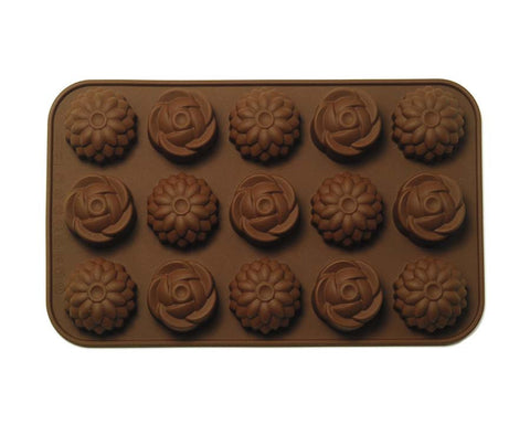 Rose & Chrysanthemums Chocolate Mold - Silicone