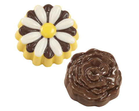 Rose & Daisy Cookie Candy Mold by Wilton