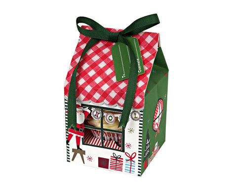 Santa's House Merry & Bright Small Cupcake Box by Meri Meri