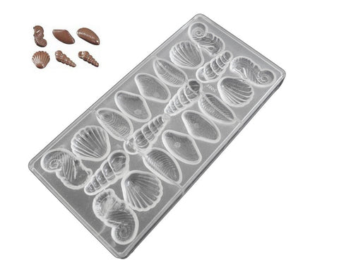 Professional Polycarbonate Chocolate & Candy Mold- Seashell Chocolate Mold